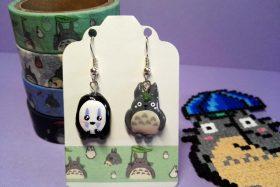 Pendientes Totoro y «Sin cara»