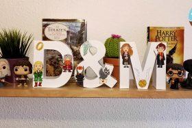 Letras decorativas: El Señor de los Anillos y Harry Potter